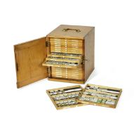 A collection of approximately 320 microscope specimen slides, English, predominately late 19th...