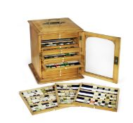 A collection of approximately 500 microscope specimen slides, English, predominately late 19th ce...