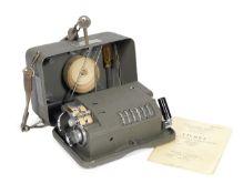 A Hagelin C446 cipher machine, Swedish, circa 1949,