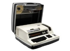 A Hagelin HC-570 desktop electronic cipher machine, Swiss, circa 1980,