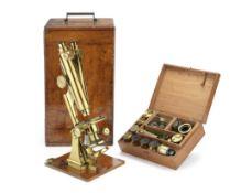 A Smith & Beck binocular compound microscope, English, late 19th century, (2)