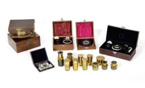 A collection of various microscope accessories, (Qty)