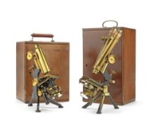 Two Watson compound microscopes, English, early 20th century, (2)