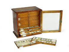 A collection of approximately 300 diatom microscope slides, English, late 19th and 20th centuries,