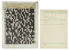 A Rasterschluessel 44 Strip Code Sheet, German, Mid 20th century, (2)
