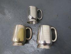 Three tankard trophies ((3))