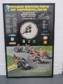 A large advertising poster for the 1977 Venezuela Grand Prix