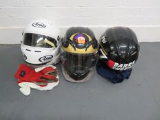 Two AGV Barry Sheene replica helmets ((6))