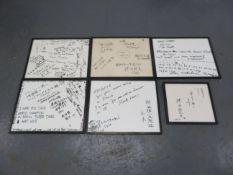 Six race team dedication pieces ((Qty))
