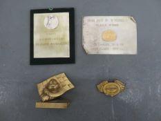 A trophy plaque for 1st place ((4))