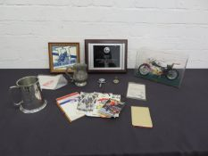 Offered from the estate of the late Percy Tait A selection of motorcycling ephemera ((Qty))
