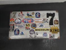 A metal suitcase