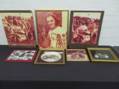 Offered from the estate of the late Percy Tait A large quantity of framed and glazed pictures (...