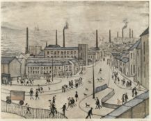 Laurence Stephen Lowry R.A. (British, 1887-1976) Huddersfield Offset lithograph printed in colour...