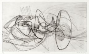 Stanley William Hayter (British, 1901-1988) Death by Water Engraving and scorper printed with pla...