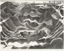 Paul Nash (British, 1889-1946) Mine Crater, Hill 60, Ypres Salient Lithograph printed in black, 1...