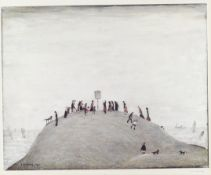 Laurence Stephen Lowry R.A. (British, 1887-1976) The Notice Board Offset lithograph printed in co...