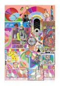 Sir Eduardo Paolozzi (1924-2005) Bash (Dark Pink, Orange, Dark Pink) Three screenprints in colou...
