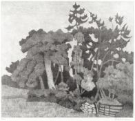 Robert Bevan (British, 1865-1925) The Plantation Lithograph printed in black, 1922, on wove, sig...