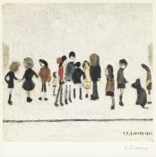 Laurence Stephen Lowry R.A. (British, 1887-1976) Group of Children Offset lithograph printed in c...