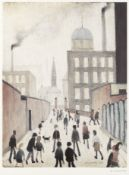 Laurence Stephen Lowry R.A. (British, 1887-1976) Mrs Swindell's Picture Offset lithograph printe...