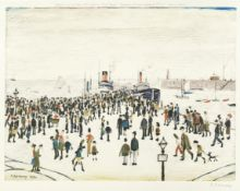 Laurence Stephen Lowry R.A. (British, 1887-1976) Ferry Boats Offset lithograph printed in colours...