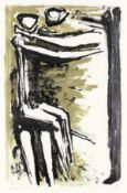 Kenneth Armitage (British, 1916-2002) Two Figures Lithograph printed in colours, 1953, on wove, s...