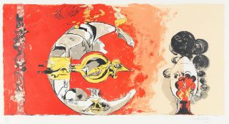 Graham Sutherland O.M. (British, 1903-1980) Fossil with Rock and Flames Lithograph printed in col...