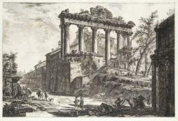 Giovanni Battista Piranesi (Italian, 1720-1778) Veduta del tempio detto della Concordia Etching, ...