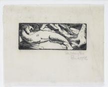 Stanley William Hayter (British, 1901-1988) Untitled The rare linocut printed in black, 1926, the...