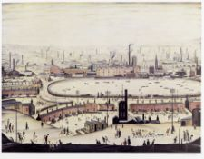 Laurence Stephen Lowry R.A. (British, 1887-1976) The Pond Offset lithograph printed in colours, 1...