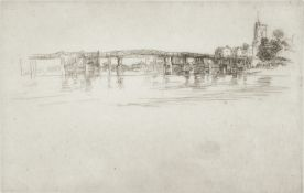 James Abbott McNeill Whistler (American, 1834-1903) Little Putney Bridge Etching and drypoint, 18...