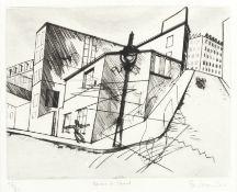 Stanley William Hayter (British, 1901-1988) Rue de La Villette, from 'Paysages Urbains' Engravin...