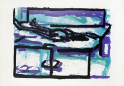 Frank Auerbach (British, born 1931) Reclining Figure I Screenprint in colours, 1966, on wove, sig...