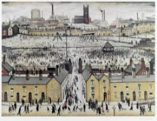 Laurence Stephen Lowry R.A. (British, 1887-1976) Britain at Play Offset lithograph printed in col...