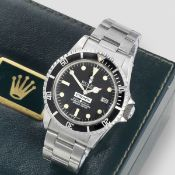 Rolex. A fine and rare stainless steel automatic calendar bracelet watch Comex Sea Dweller, Ref:...