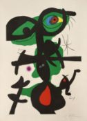 Joan Miró (1893-1983) Oda a Joan Miró Lithograph in colours, 1973, on Guarro wove paper...