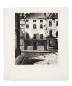 Christopher Richard Wynne Nevinson A.R.A (1889-1946) Survivors at Arras Drypoint, 1917, on laid p...