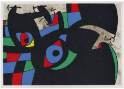 Joan Miró (1893-1983) One Plate, from Le Lézard Aux Plumes D'or Lithograph in colours, ...