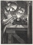 Christopher Richard Wynne Nevinson A.R.A (1889-1946) Acetylene Welder Lithograph, 1917, on wove p...