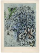 Marc Chagall (1887-1985) Le Paradis bleu Lithograph in colours, 1970, on Arches wove paper, sign...