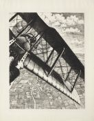 Christopher Richard Wynne Nevinson A.R.A (1889-1946) Banking at 4,000 Feet Lithograph, 1917, on l...