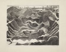 Paul Nash (1889-1946) Mine Crater, Hill 60 Lithograph, 1917, on Antique deluxe laid paper, signed...