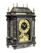 A 19th century French Boulle bracket clock with an associated wall bracket Baltazar Paris 4