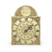 A good early 19th century English brass weight driven alarm timepiece Thomas Simson, Hertford