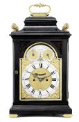 A good mid 18th century brass-mounted ebonised table clock with pull repeat William Allam, London 3