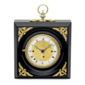 A rare Austrian Biedermeier period ormolu-mounted ebonised, four-train grande sonnerie striking a...
