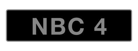 UK Vehicle Registration Number 'NBC 4',