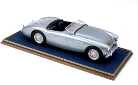 A 1:8 scale scratchbuilt model of an Austin-Healey 100 by John Shinton of the Healey Toy Factory,