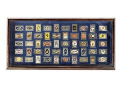 A cased display of silver motoring ingots by Franklin Mint,